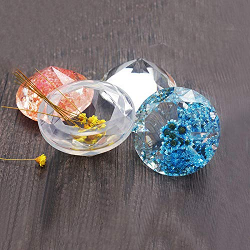 DIY Pendant Resin Jewelry Silicone Mold, Crystal Shape Pack of 2
