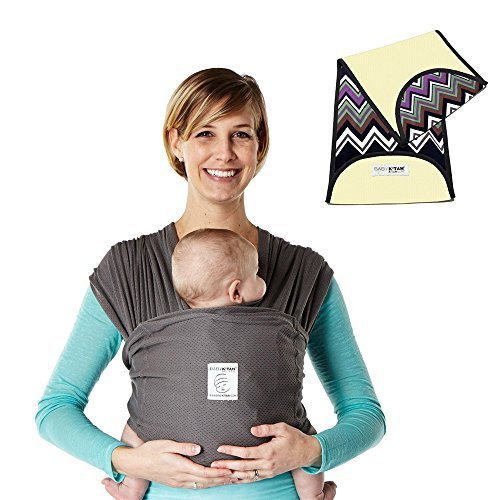 K'tan Breeze Baby Carrier in Charcoal + Natural Zig Zag K'tanCloth (X-Large)