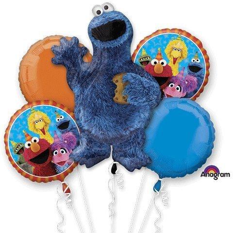- Cookie Monster Sesame Streeet Bouquet Of Balloons