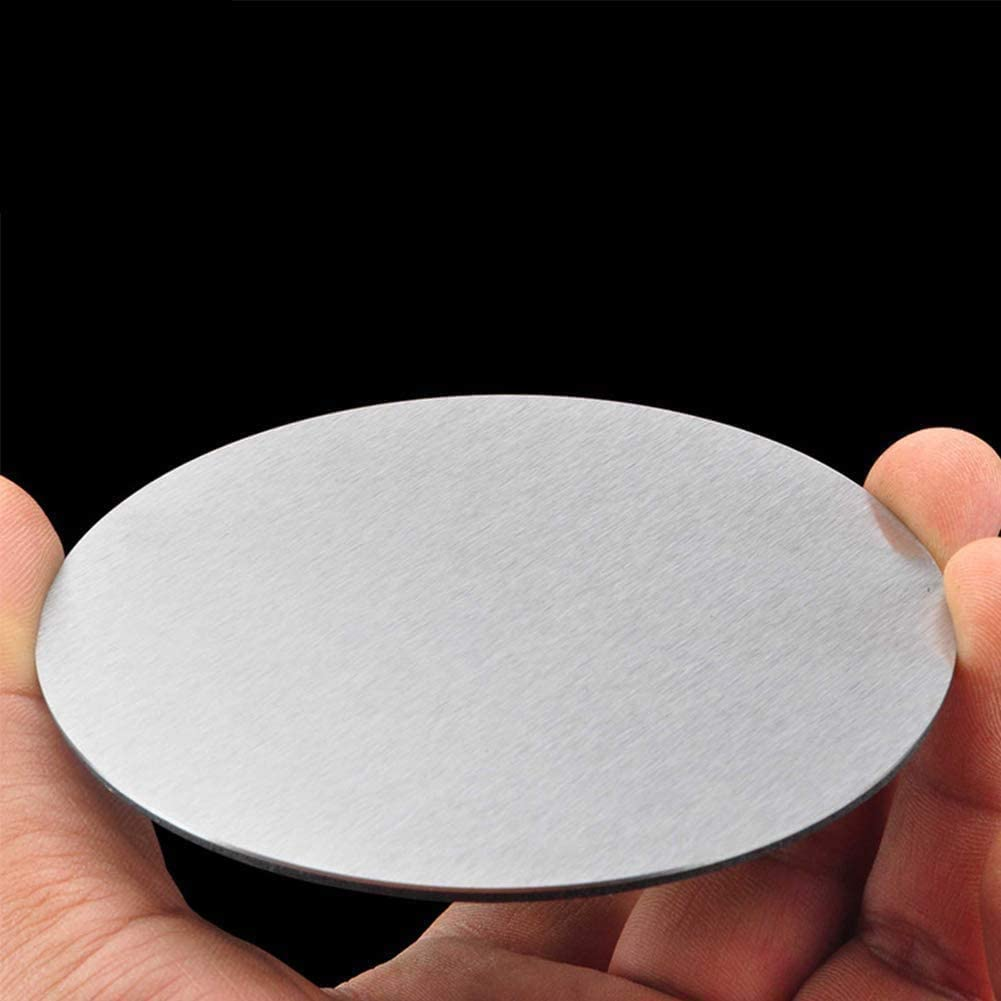,Diameter See The Size Chart for Quantity MHUI 304 Stainless Steel Plate Thickness 1.5mm Metals Round Sheet Circle Disc,Diameter:50mm 4PCS 100 mm