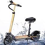 HAOYF-Pieghevole-Monopattino-Elettrico-per-Adulti-con-Sedile-Rimovibile-Motori-da-10-Pollici-350W-velocit-Massima-35-KmH-Carico-Massimo-200-kg-E-Scooter-con-Luce-Anteriore