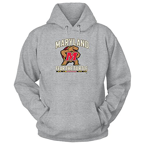 Terrapin Turtle - Maryland Terrapins University Maryland Terps - Fear The Turtle Grey Hoodie