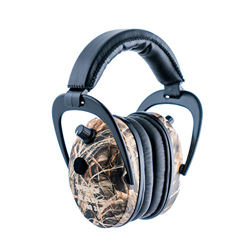 Pro Ears - Predator  Gold - Hearing Protection and Amplfication - NRR 26 - Contoured Ear Muffs -  CM4 Camo
