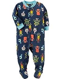 Baby Boys' 12M-24M One Piece Dinosaur Fleece PJS