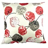 Multi-colored Leaves Print Reactive Dyeing Polyester Throw Pillow Covers Pillowcase Sham Decor Cushion Slipcovers Square 20x20 Inch Red (Red)