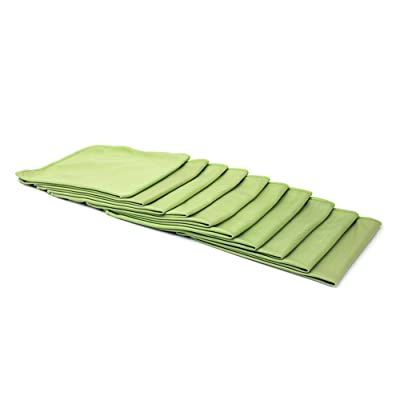 "Bulk Pack [Smooth Glass] Microfiber Window, Mirror and Glass Towel (16""x16"") - 10 Pack (Green): Automotive"