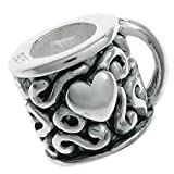 Sterling Silver Tea Cup / Coffee Mug with Heart