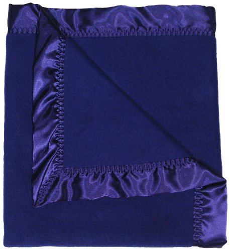 Raindrops Fleece Boy Receiving Blanket, Dark Royal (Satin Touch Blanket Receiving)