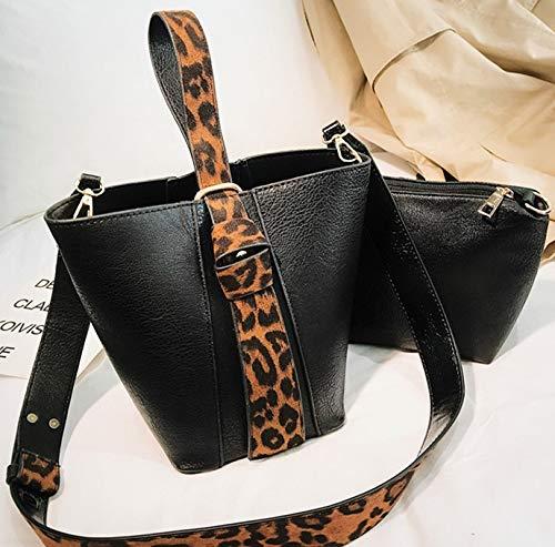 XLMLJYX 2 Pcs//Set Bucket Bags for Women 2018 Female Small Crossbody Bags Ladies Print New Handbags and Purse