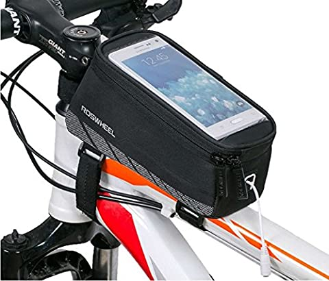 Cycling Bike Bicycle Handlebar Frame Pannier Front Top Tube Bag Pack Rack X Large Waterproof for Iphone 6 6 Plus Samsung 5.5/4.8 Inch Mobile Cell - Front Pannier