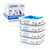 4 Pack Refills Fit Litter Genie Pail Waste Disposal Systems for Cats - 21 Feet Extra Long Capacity with Odor Smell Control Protection