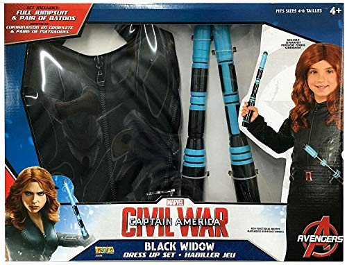 Black Widow Marvel Captain America: Civil War Dress Up Deluxe Set w/ -