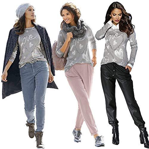 Hiver Chemise Rond Manches Caf Chic Haut Femme Mode Elgante Motif Jeune Impression Strass Chemisier Automne Casual Longues Col Shirts Coeur De r4rEw6q