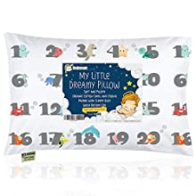 Toddler Pillow with Pillowcase - 13X18 Soft Organic Cotton Baby Pillows for Sleeping - Machine Washable - Toddlers, Kids, Infant - Perfect for Travel, Toddler Cot, Bed Set (Kea123)