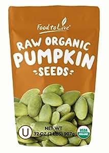 Organic Pepitas/Pumpkin Seeds by Food to Live (Raw, No Shell, Kosher) — 2 Pounds