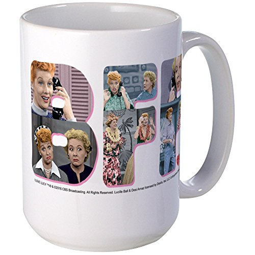 CafePress - I Love Lucy: BFF Large Mug - Coffee Mug, Large 15 oz. White Coffee Cup