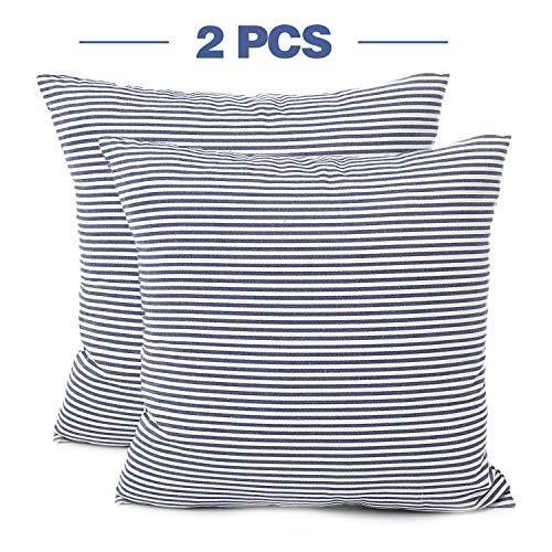 Buy stripe throw pillow covers 18x18