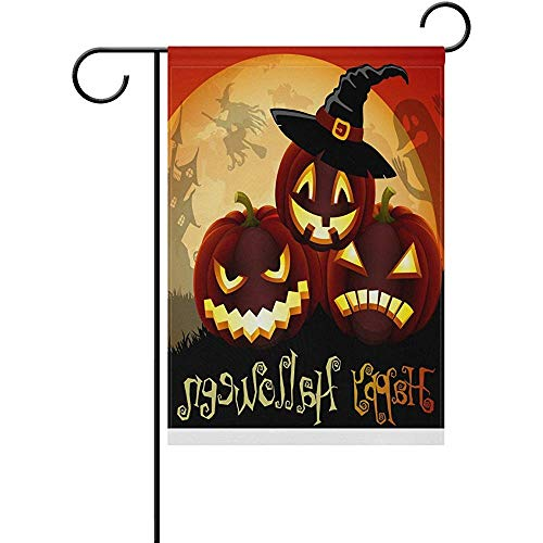 Vector Cute Halloween Illustration - Seasons Decorative Garden Flag Fall Autumn 12