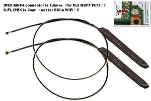 Bluetooth MHF4 IPEX 4 2.4Ghz 5Ghz 5.8G WLAN Network Adapter Internal PC WiFi Antenna for Intel 7260 8260 8265 9265 9260 9560 AX200 AX Killer M.2 MHF4 IPEX4 Wi-Fi Wireless WLAN Card Banana Pi M2 Zero