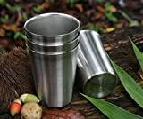 Premium Stainless Steel Cups For Kids Toddler Safe Rimless 8 Ounce 4 Pack