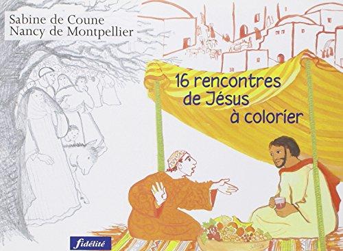 16 Rencontres de Jésus à colorier