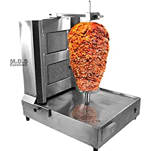 Trompo para Tacos Al Pastor 2 Ceramic Infrared Burners Authentic Stainless Machine Heavy Duty Commercial