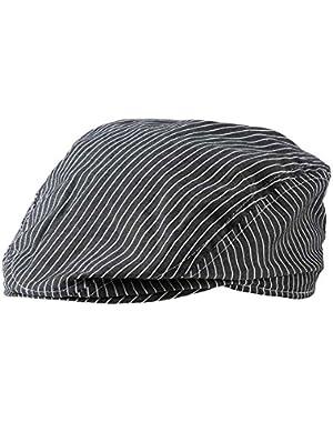 Baby Boys Dark Gray & White Stripe Golfers Hat (0-12 months)