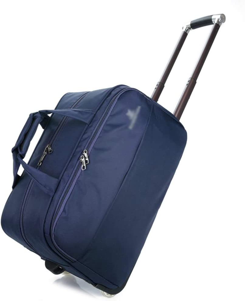 Color : Blue, Size : 583033 Travel Bags Trolley Case Solid Color Male Baggage Folding Bag Luggage Suitcases Carry On Hand Luggage Durable Hold Tingting