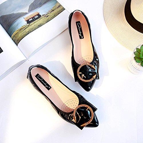 deslizamiento mujer zapatos nine y Thirty calzado otoño casual Donyyyy suave Solo de primavera Zapata de q0TxxPpz