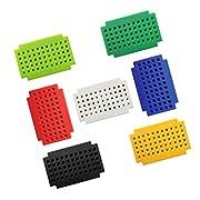 7 Pieces ZY-55 Mini Solderless Breadboard PCB Board Free Solder Test Board