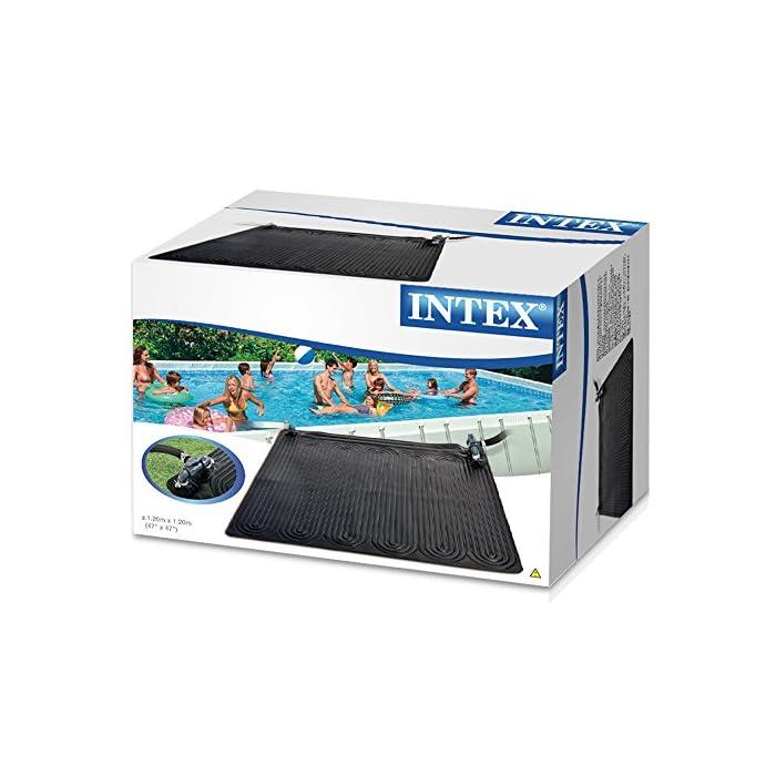 51XClSPv72L Alfombra calentador solar para piscinas hinchables y desmontables AGP Con forma cuadrada, las medidas de la alfombra solar son 120x120 cm (antes de que se llene de agua) La alfombra calentador está indicada para piscinas AGP de hasta 30280 litros de capacidad de agua