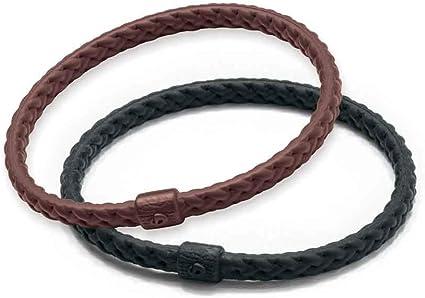 Phiten Bracelet X 50 Silicone Hybrid Black 19 cm