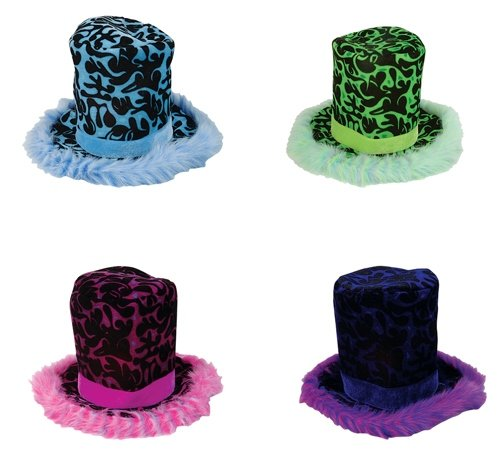"22"" FLAME STOVEPIPE HAT, Case of 48 by DollarItemDirect"