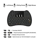 Wireless Keyboard, BEST- Eshop H9+ 2.4GHz Colorful Backlit Wireless Mini Keyboard,Handheld Remote with Touchpad Mouse for Android TV Box, Windows PC, HTPC, IPTV, Raspberry Pi, XBOX 360, PS3, PS4 (black (without backlit))