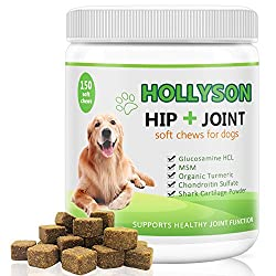 Glucosamine For Dogs, Hip & Joint For Dogs With Glucosamine Chondroitin, Msm, Turmeric For Pain Relief & Reduces Inflammation, Supports Healthy Joints, For All Size Dogs -150 Natural Soft Chews