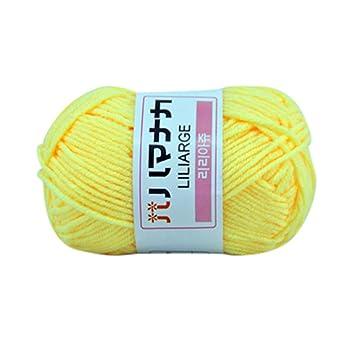 Amazon.com: 1 ovillo de 0.88 oz de lana para tejer a mano ...