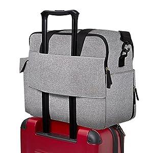 Skip Hop Weekender Travel Diaper Bag Tote with Matching Changing Pad, Duo Signature, Grey Melange