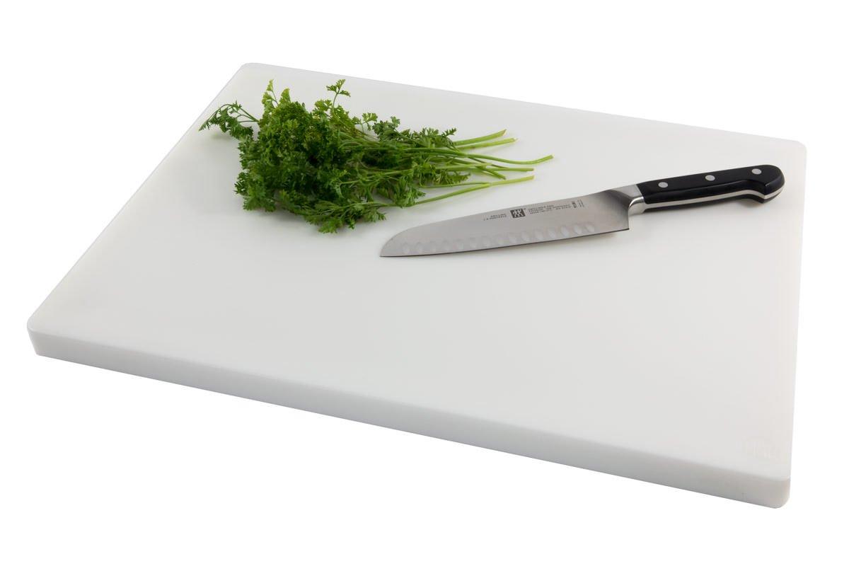 Restaurant Thick Black Plastic Cutting Board, NSF, FDA Approved - 18 x 12 x 1 Inch CuttingBoard
