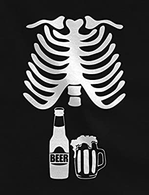 Halloween Skeleton Beer Belly Xray Funny Men's T-Shirt