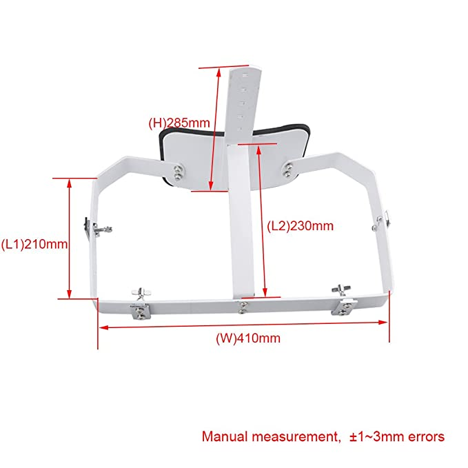 BQLZR 44 x 22 cm blanco acero profesional QUAD de marcha tambor ...