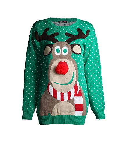 Rudolph 3D Nose Christmas Jumper