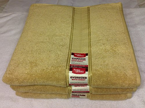Better Homes And Gardens Thick And Plush Bath Towel Collection Butter Pecan New Ebay