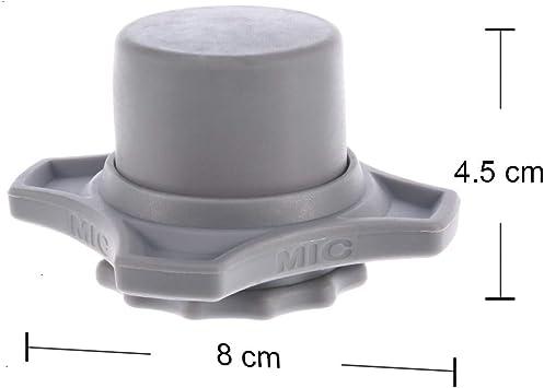 anillo de silicona inferior inal/ámbrico color amarillo 2 juegos antivibraci/ón Funda para micr/ófono con soporte para barra de viento
