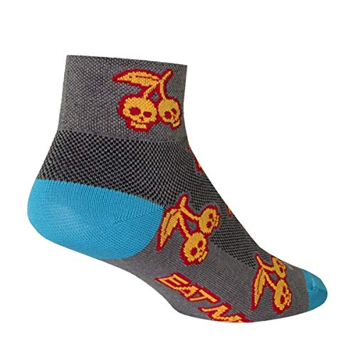 (SockGuy Women's 2in Scary Cherry Cycling/Running Socks (Scary Cherr - S/M))