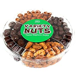 Premium Gourmet Nuts Gift Basket, Assorted Healthy Mix, Fresh and Roasted.
