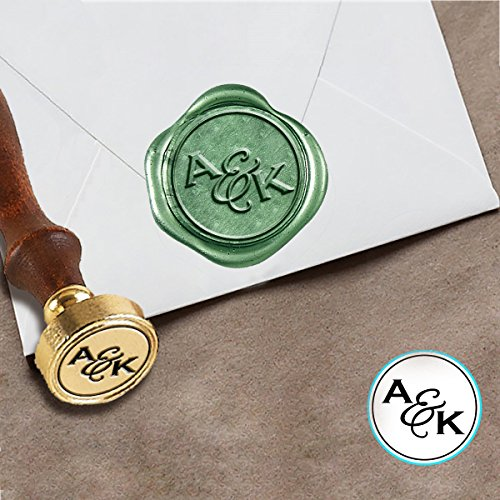 Custom Wax Seal Wedding Stamp Kit with Sealing Wax-1