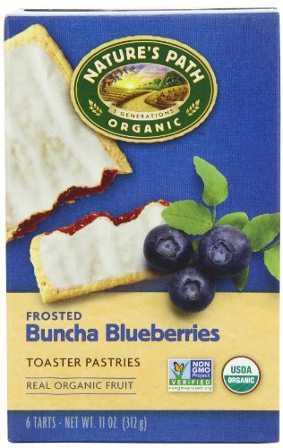 Kosher Pastries (Nature's Path Organic Toaster Pastries, Frosted Buncha Blueberries, 6 Count Box (Pack of 12))