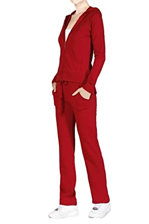 c4cd4603836 2LUV Plus Women s French Terry Active Wear Set With Hooded Jacket Red S