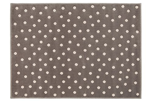 Lorena Canals Dots Acrylic Rug (Dark Grey/Nude) by Lorena Canals