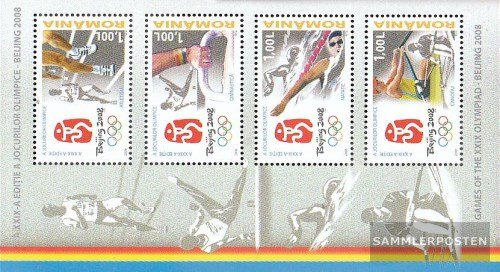 Romania Block424 (complete.issue.) 2008 Olympics Summer Beijing´08 (Stamps for collectors) Beijing 2008 Summer Olympic Games